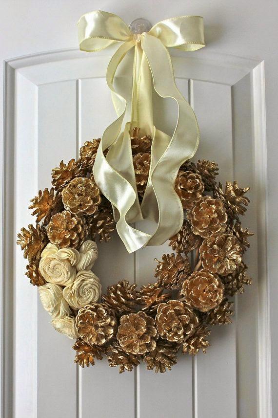 Adornos de navidad con pi as mi casa inventada - Adornos de navidad hechos con pinas ...