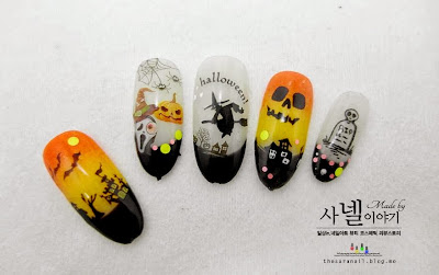 Halloween water decals