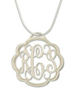 Pewter Monogram Necklace
