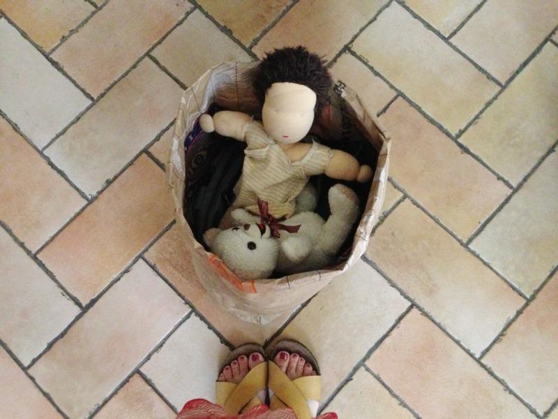 sacchi carta porta giocattoli