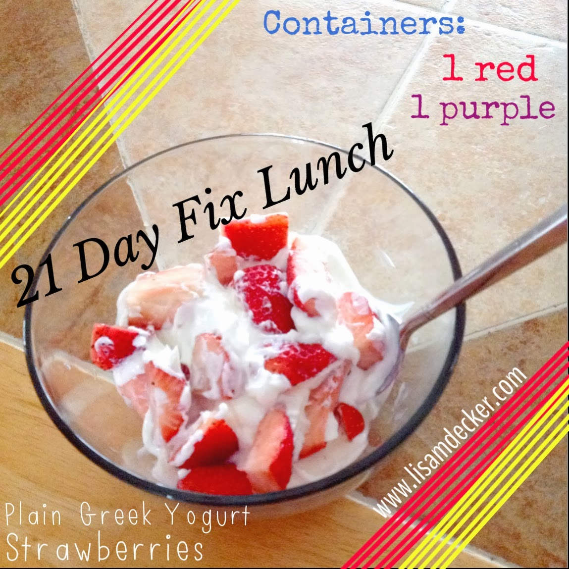 21 Day Fix Snack or Lunch, Greek Yogurt, Strawberries