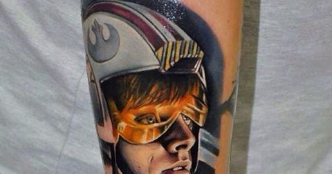Check out this pretty sweet luke skywalker tattoo in a for Luke skywalker tattoo
