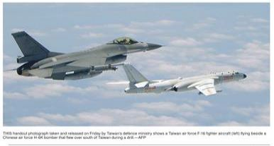 taiwan stands up to chinese aggression...