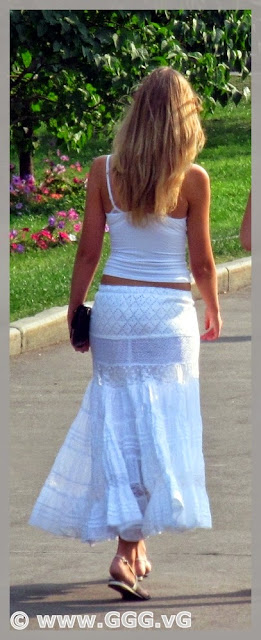 Summer outfit with white skirt