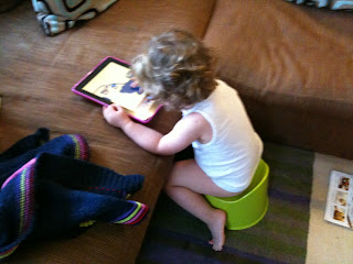 ipad addiction going potty onequartermama