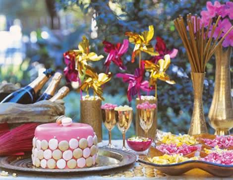 mêsa de sobremesas para o festas de fim de ano
