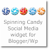 Spinning Candy Social media widget for Blogger/Wordpress