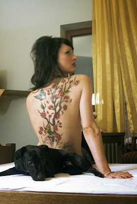 back tattoo art girl images