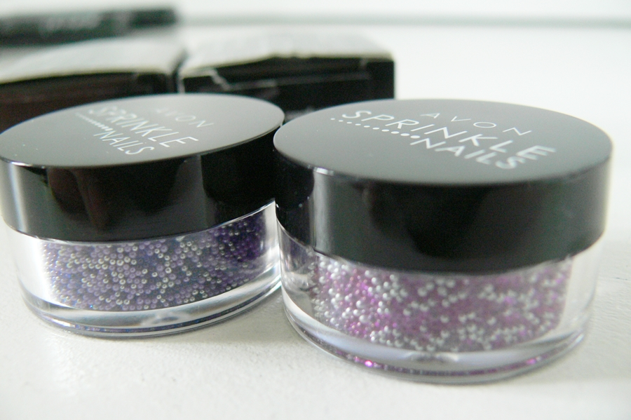 Avon Sprinkle Nails Pink Confetti i Purple Confetti