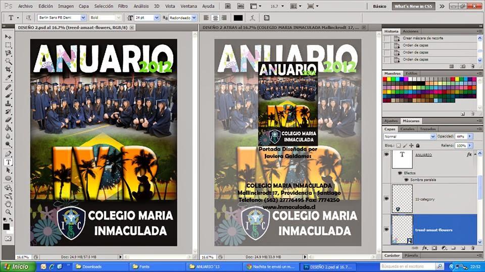 Diseño Anuario Escolar (Photoshop) | Diseño Industrial UTEM