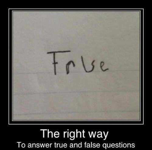 The Emergency Way To Answer True And False Questions