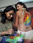 Mink Singh Hot Back Body Paint for Cricket World Cup 2011 ?