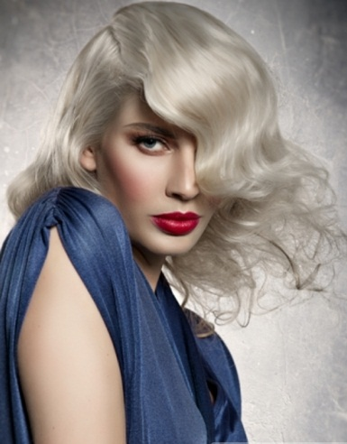 Long Platinum Blonde Hair Style 2014