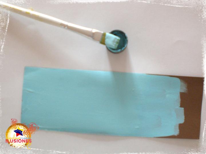 Vci scrap y papel flores para pap for Pintura azul aguamarina