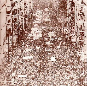 El día 1 de mayo, la huelga