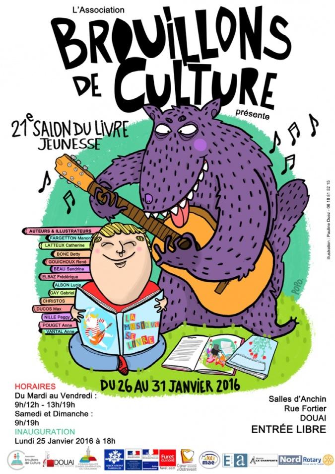 Cm2 jean moulin salon du livre jeunesse de douai - Salon du chiot douai ...
