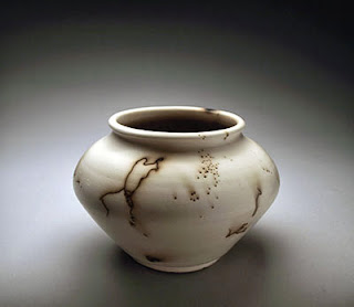 Pottery with Horse Hair Decoration by Lori Buff