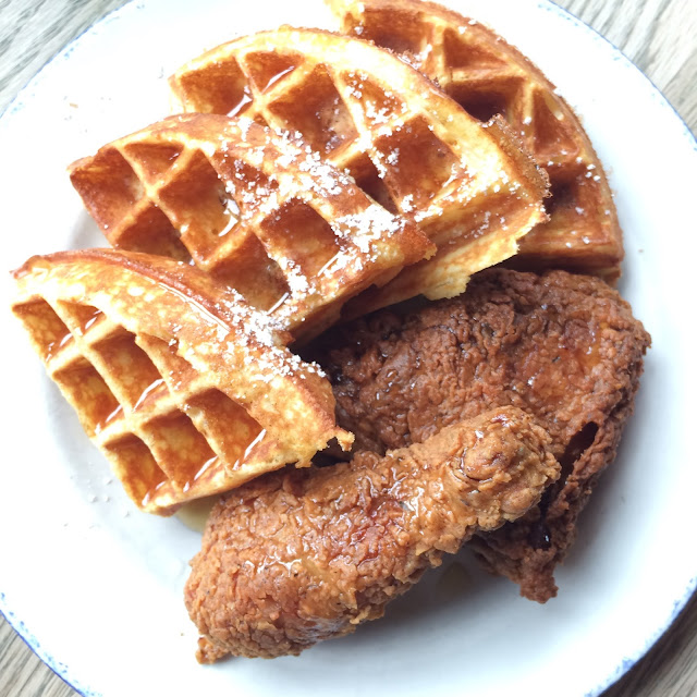 Sweet Chick waffles and fried chicken
