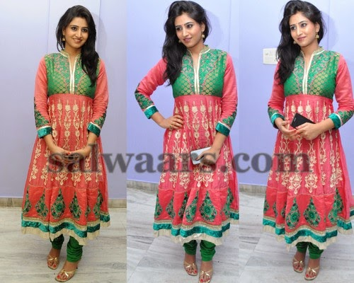 Shamili in Open Neck Salwar