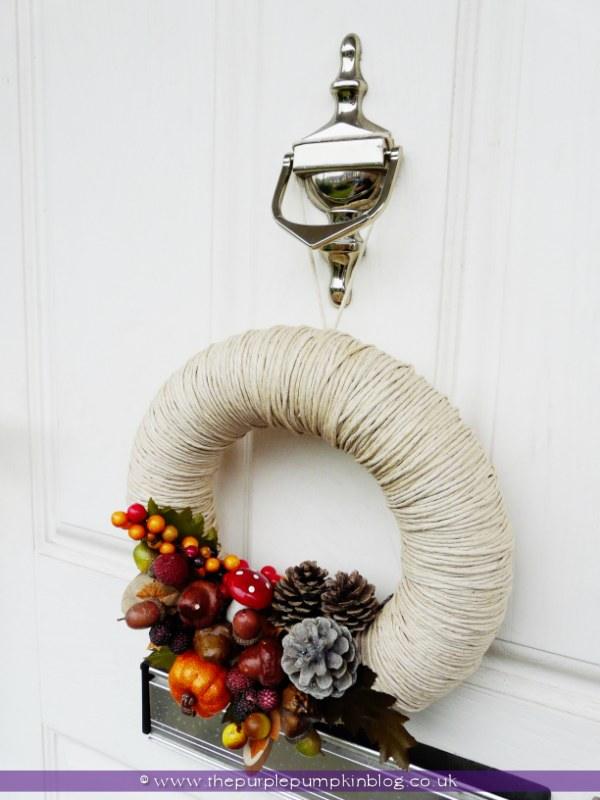 Homemade Autumn/Fall Wreath at The Purple Pumpkin Blog