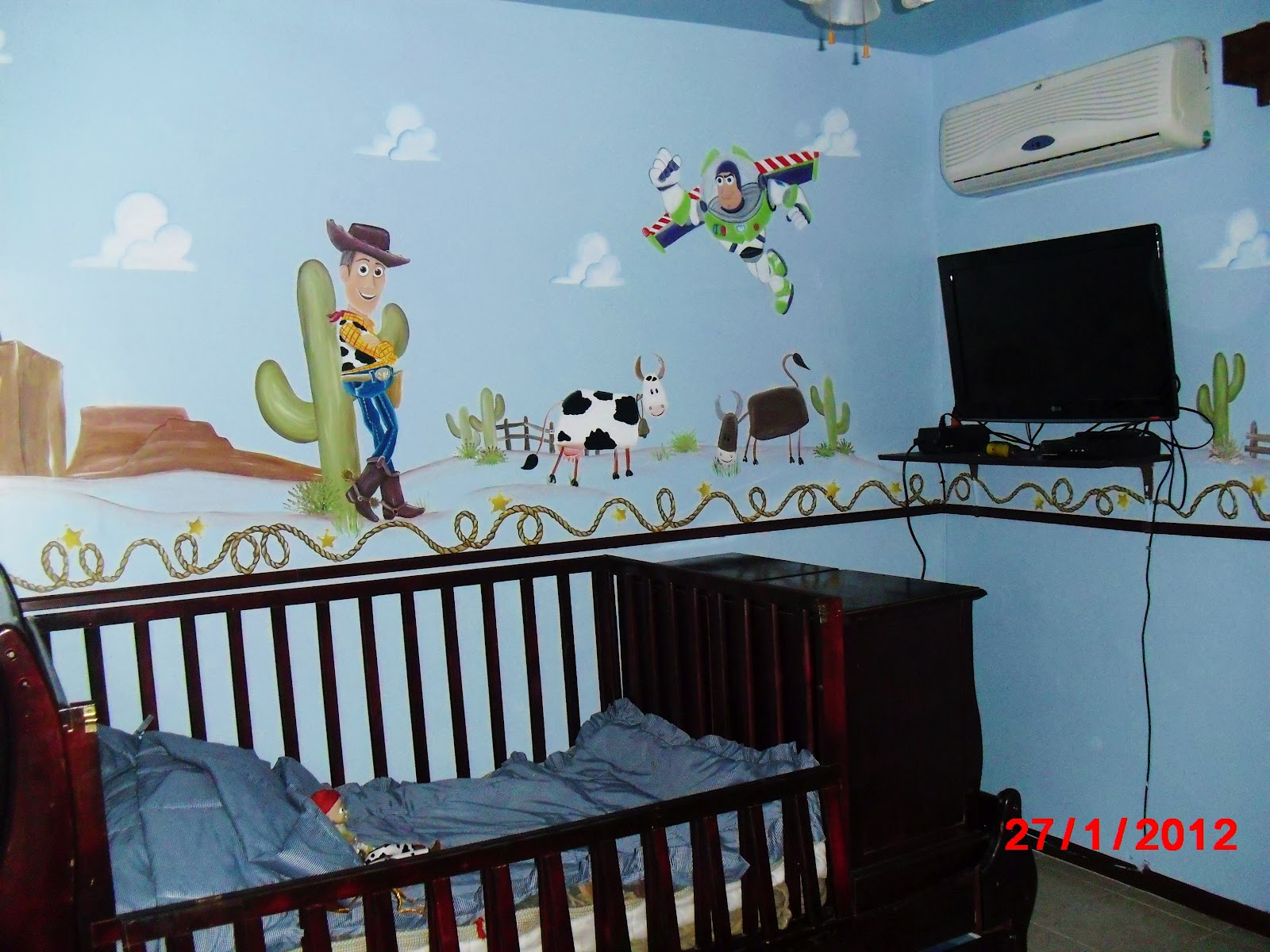 Murales infantiles dormitorio toy story woody bozz - Murales para dormitorios infantiles ...