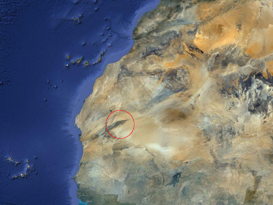 The scale of the Eye of Africa