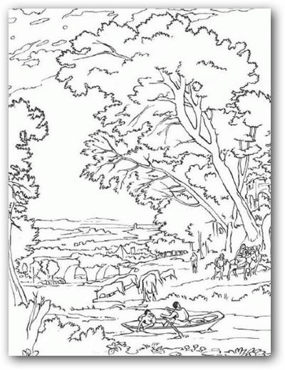 Dibujos para colorear paisajes | Dibujos para Colorear