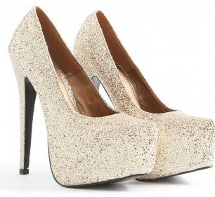 Darcil Sparkly Platform Heels, £34.99 @ Missguided