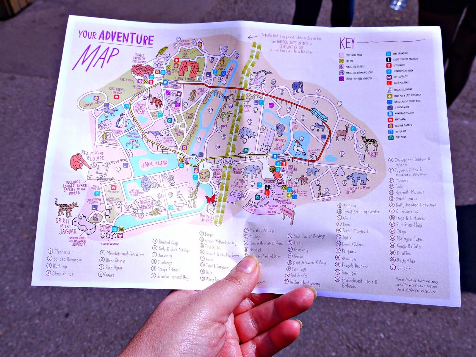 zoo, map