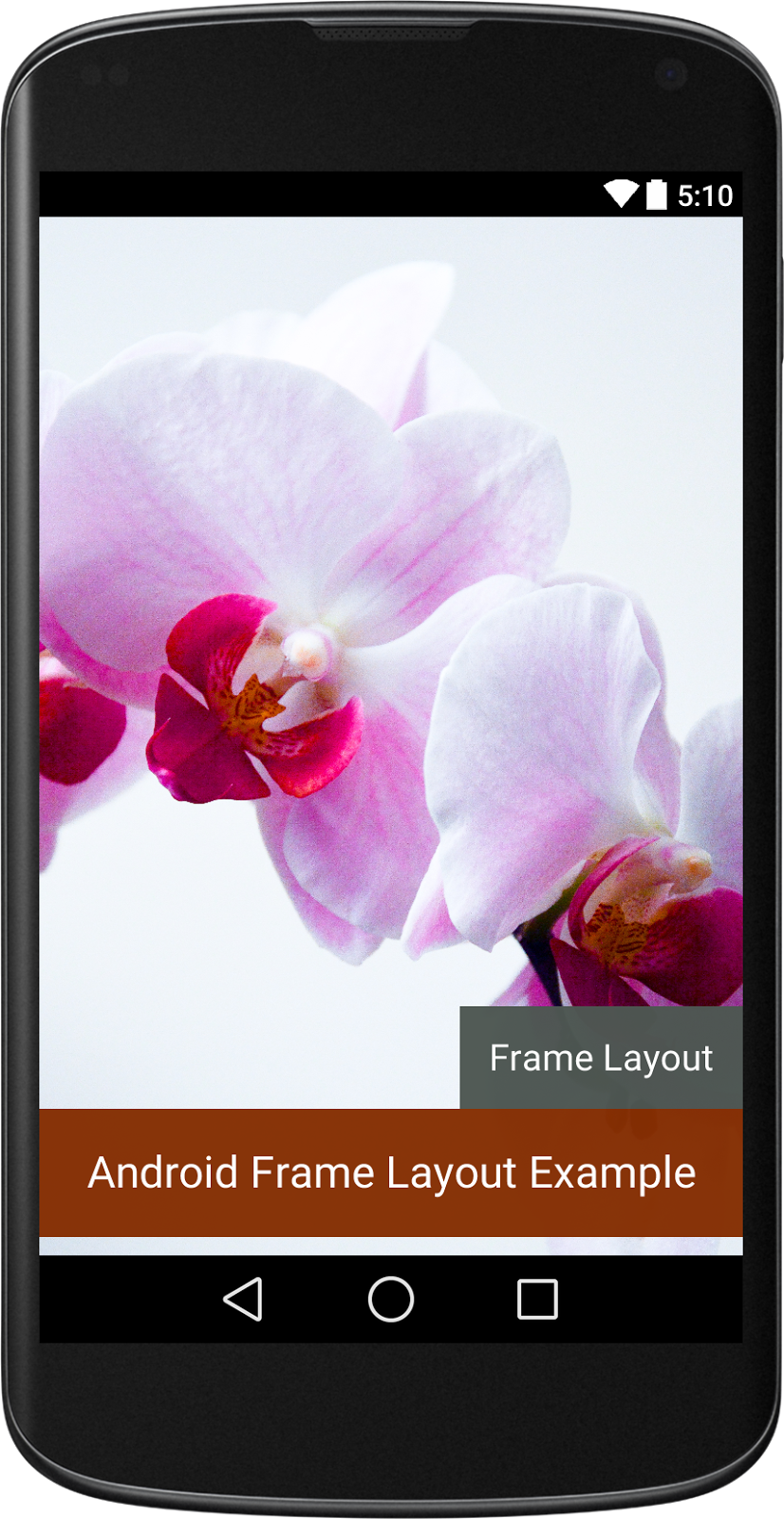 Android Frame Layout Example - Android xml ui design