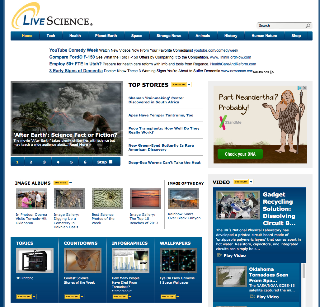 current events articles in science