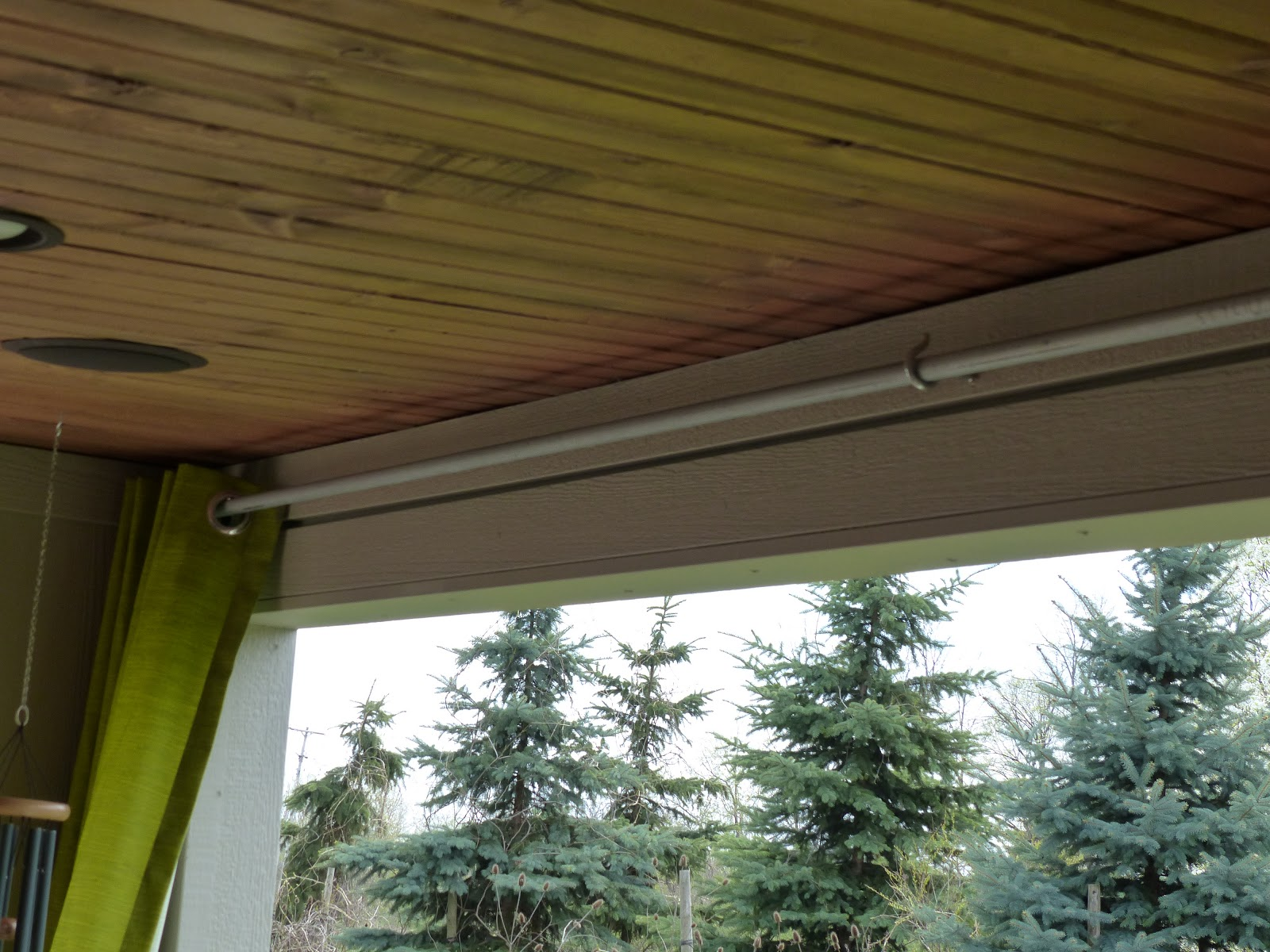 JULIE PETERSON Simple Redesign DIY BUDGET OUTDOOR CURTAIN ROD