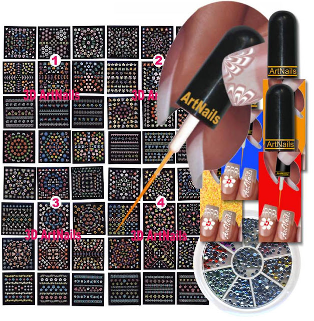 ... 3d nail art kit in health beauty nail care polish manicure kits ebay
