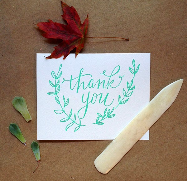 22 unique letterpress thank you cards for wedding