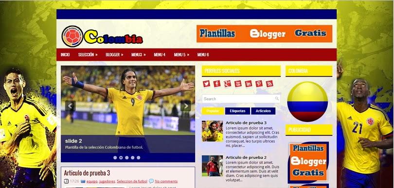 plantilla blogger colombia