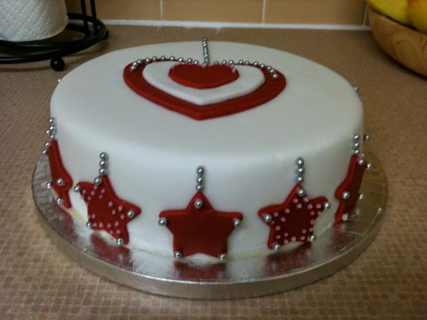 christmas cake decoration idea