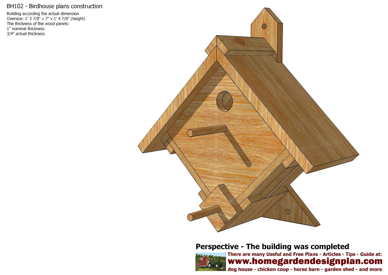 Mina bh102 bird house plans construction bird house for Building a quail house