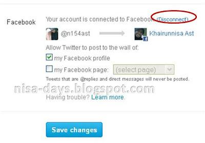 Cara Berhenti Update Status Facebook Dari Twitter