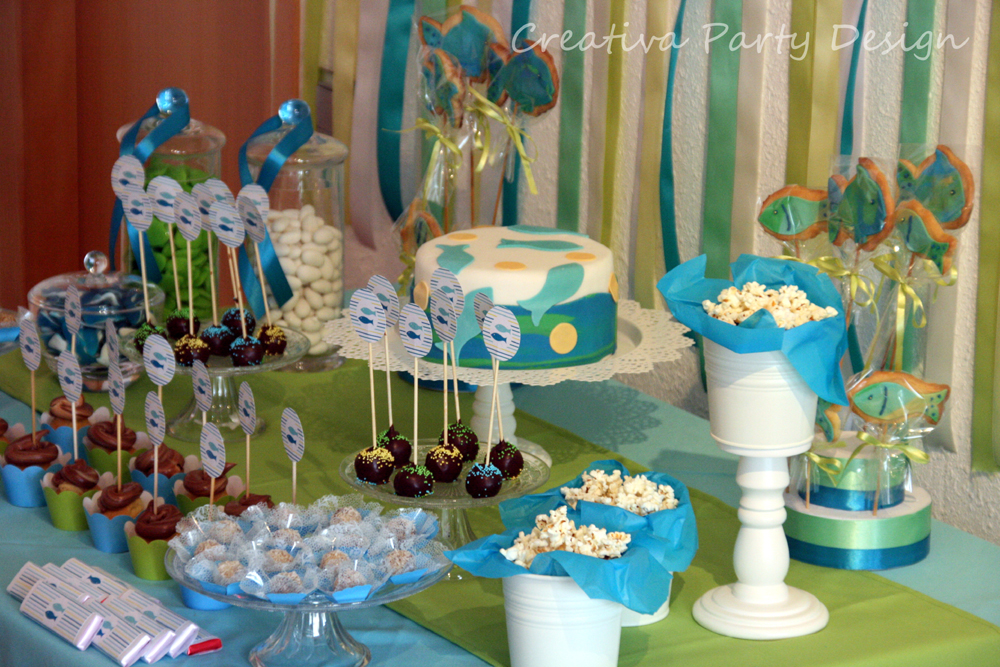 CreativaPartyDesign: Fiesta Peces Azules – Junio 2013