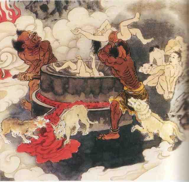 save wonderful nature and animals buddhist hell 地獄絵