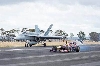 Formula 1 vs μαχητικού αεροσκάφους F/A-18 Hornet