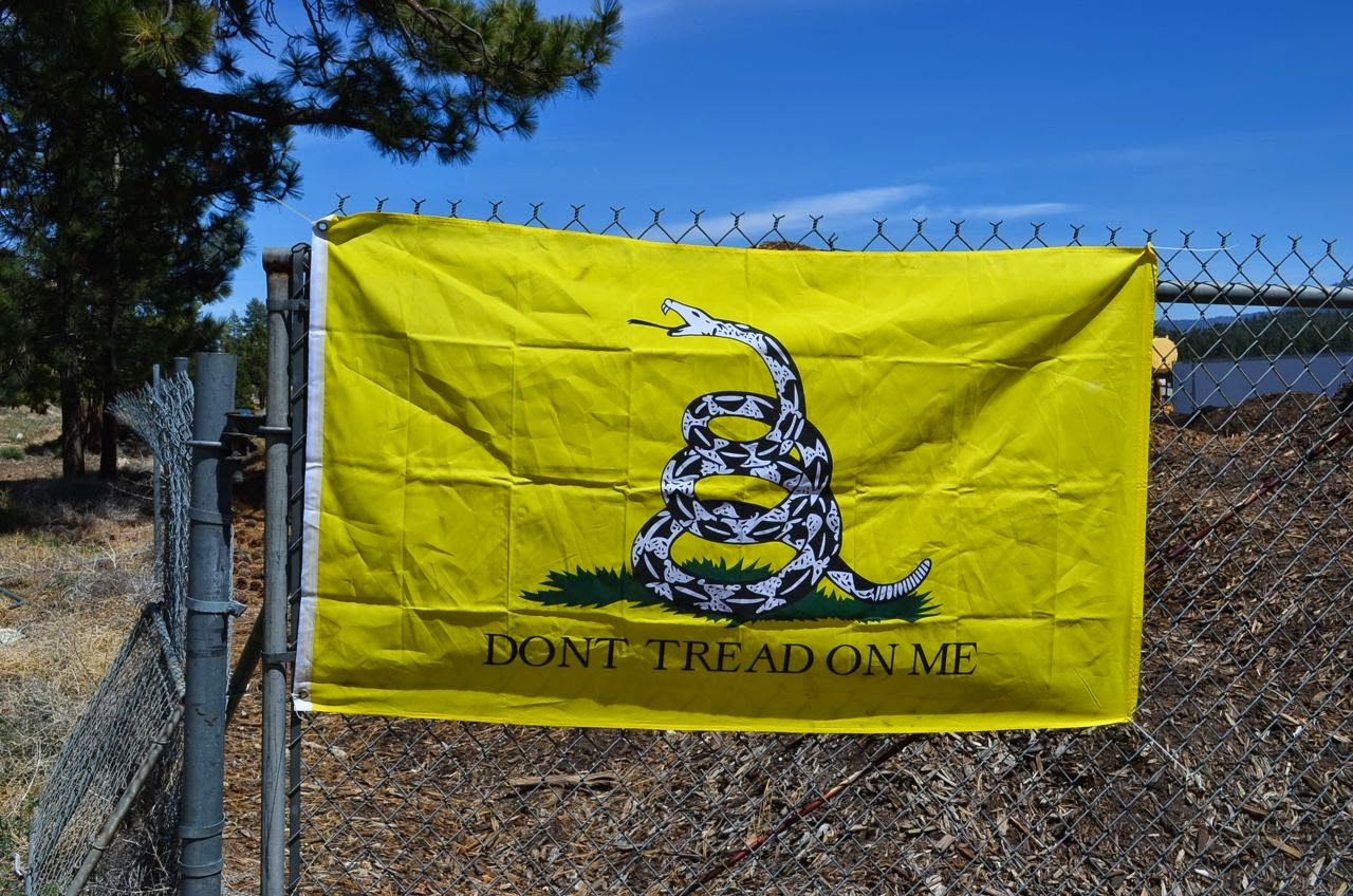 Andy put this flag on his property
