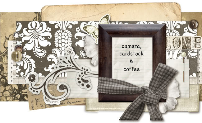 Camera, cardstock & coffee
