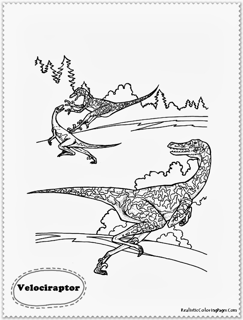 Realistic T Rex Coloring Pages