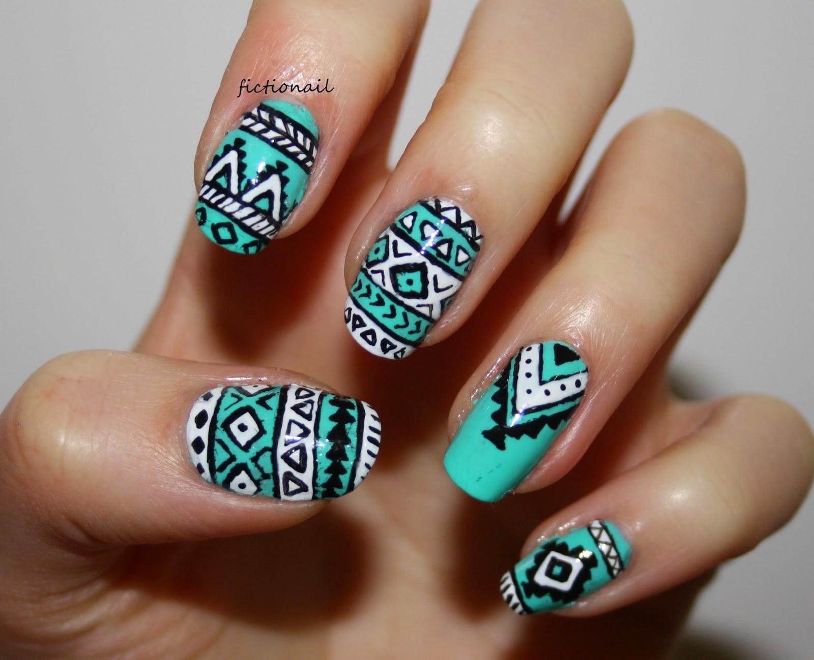 Aztec Pattern Nails