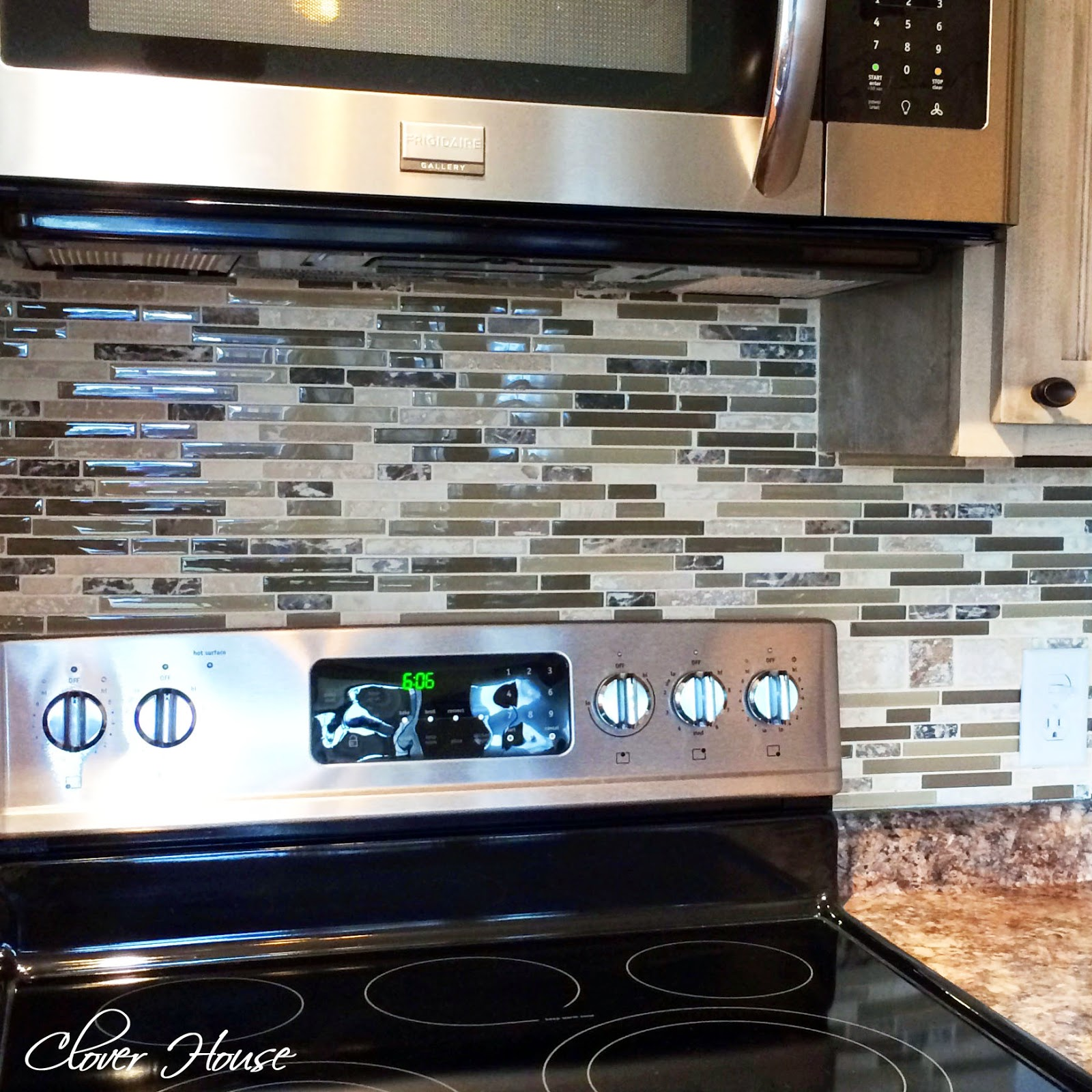 Clover house diy mosaic tile backsplash - Mosaic kitchen ...