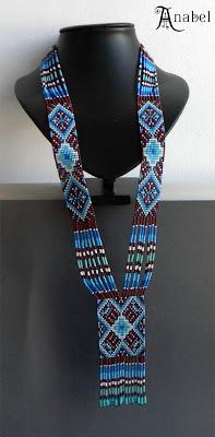 loom beaded necklace looming beadweaving beading seed bead jewelry
