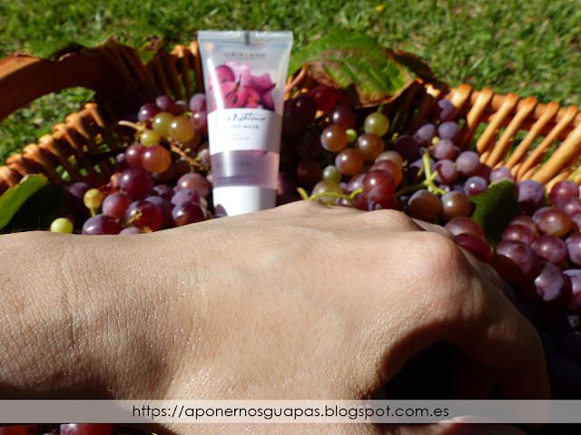 Mascarilla peel off de uva Oriflame swatch A Ponernos Guapas