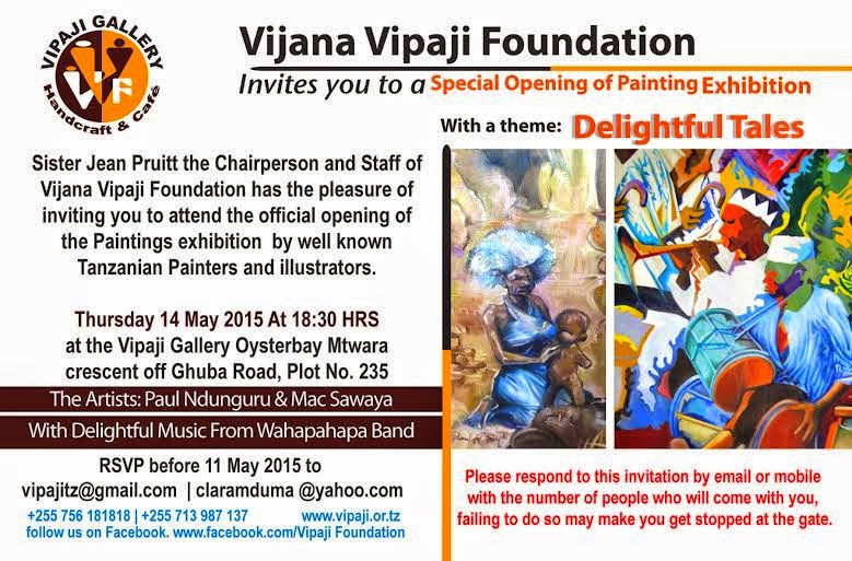 You are being invited to an exhibition of paintings magazeti ya see the attached invitation card and the flier for the inter time of exhibition best regards emmanuel mathias vvf project coordinator stopboris Choice Image