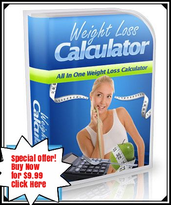 Weight Loss Calculator Special Offer for $9.99